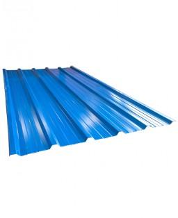 Cubierta trapezoidal azul