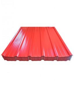 Cubierta trapezoidal roja