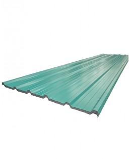 Cubierta trapezoidal verde
